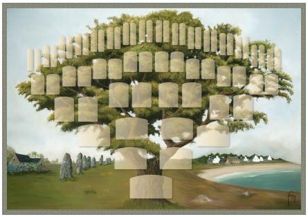 Arbre illustré 6 générations Chêne