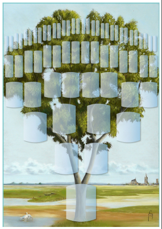 Arbre illustré 6 générations Frêne