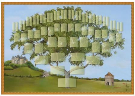 Arbre illustré 6 générations Noyer