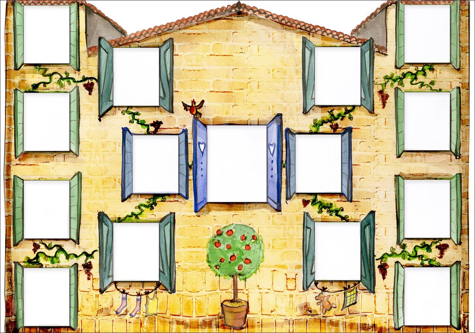 Arbre illustré 4 générations Junior Maison