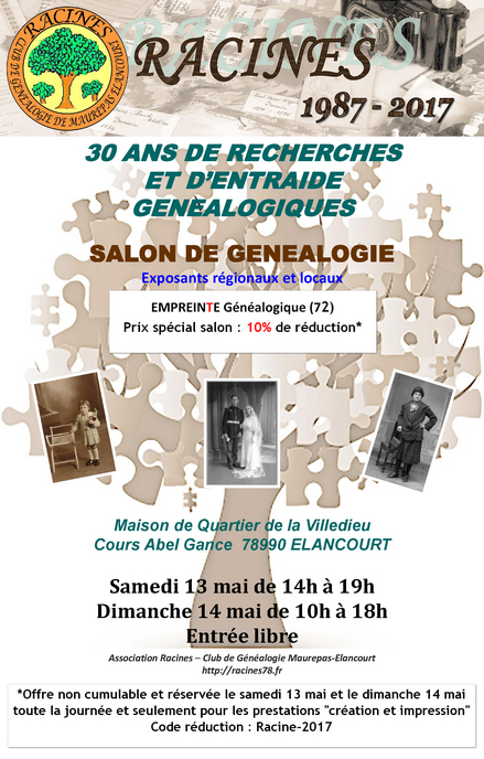 Empreinte Généalogique - Salon Racine 2017