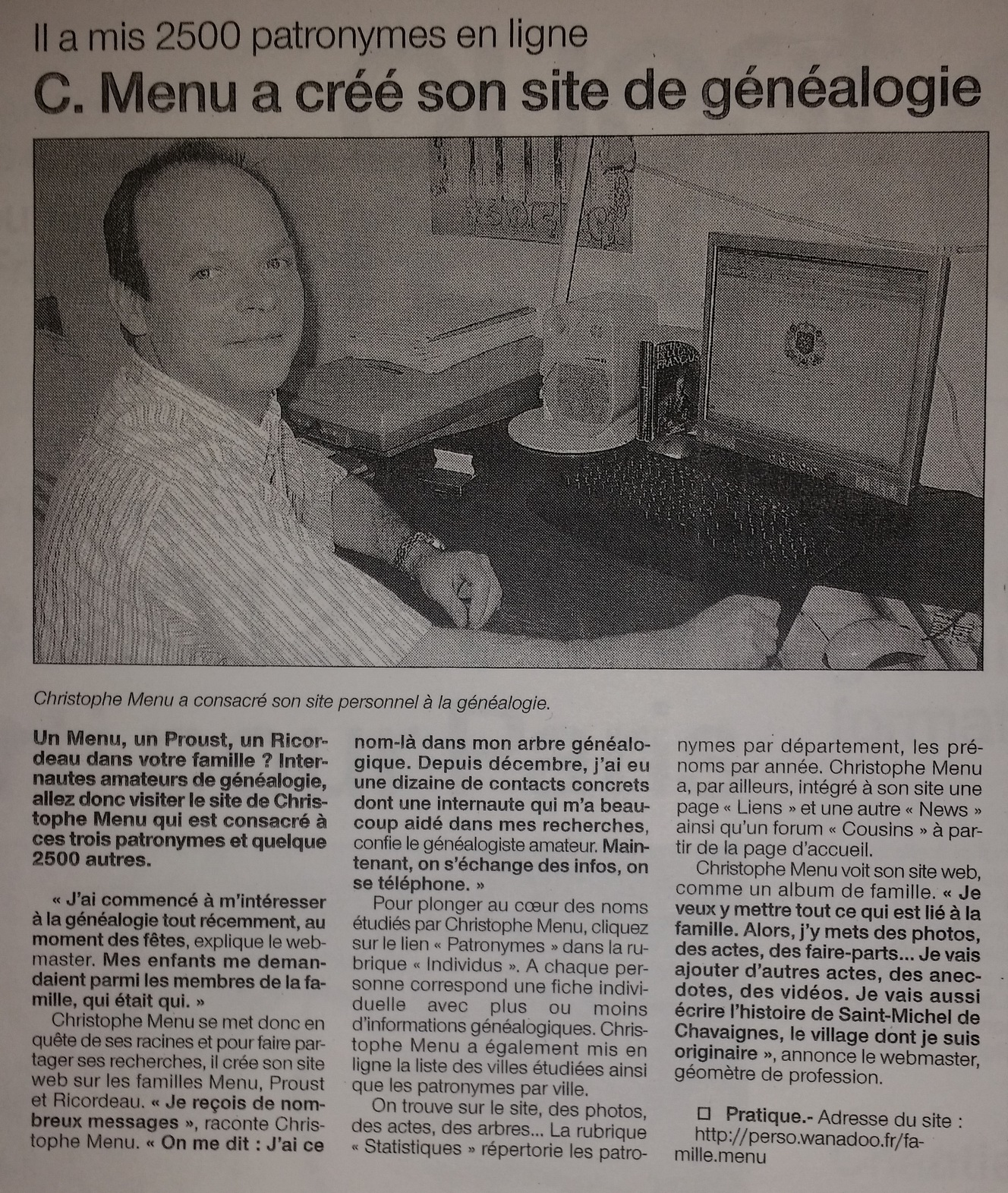 Ouest-France n°18453 du mardi 7 Juin 2005