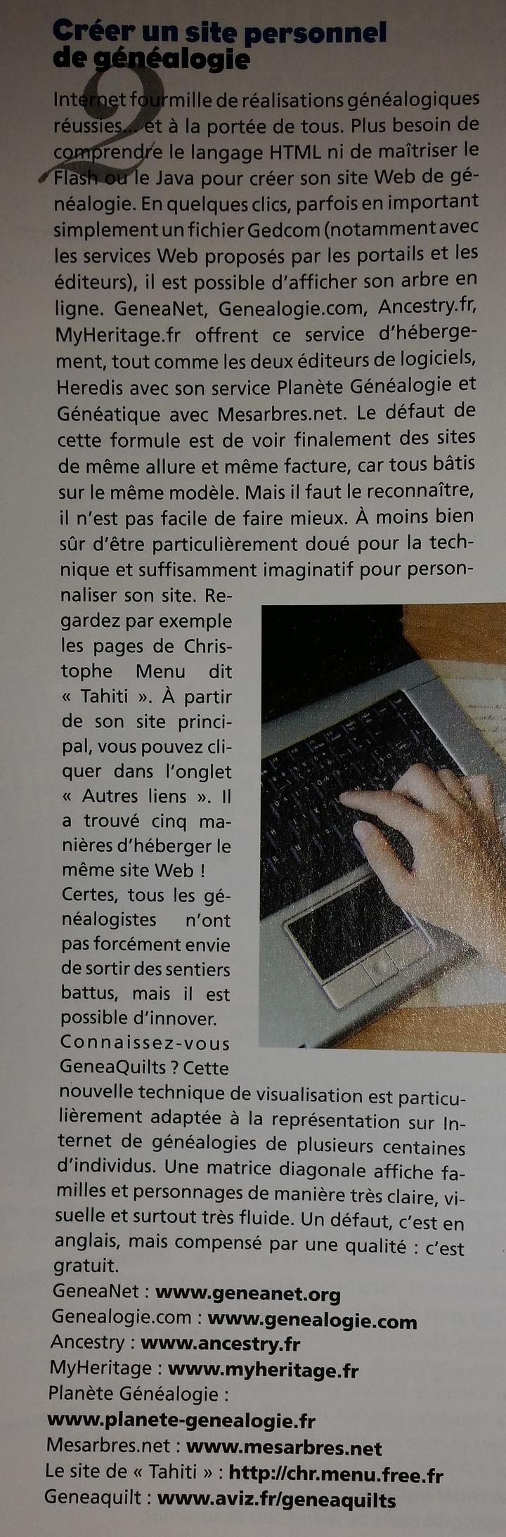La Revue Française de Généalogie n°192 de Février et Mars 2011