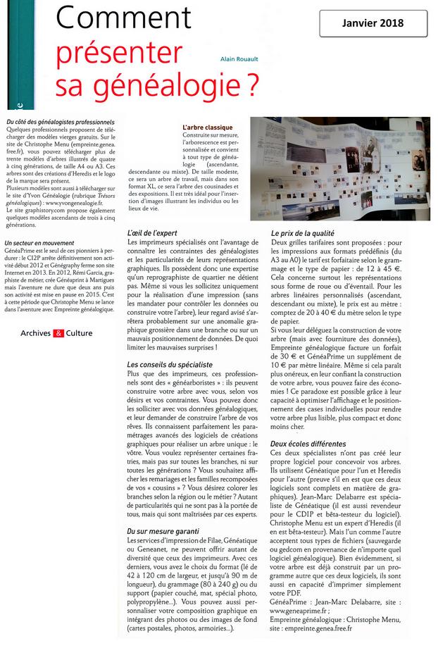 Alain ROUALT - Comment présenter sa généalogie