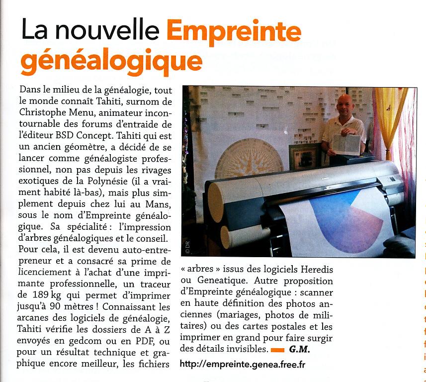 La Revue Française de Généalogie n°222 de Février et Mars 2016