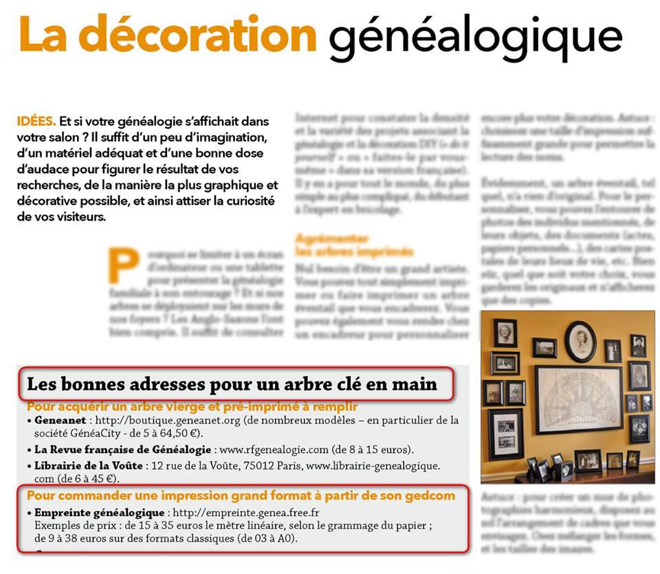 La Revue Française de Généalogie 224 de juin et juillet 2016